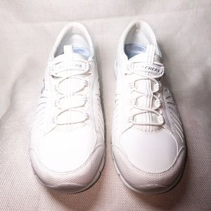 White Slip-on Sketchers Sneakers
